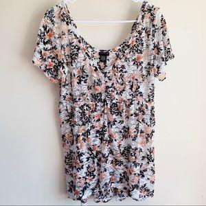 Torrid Floral Lace Babydoll Blouse Plus Size 0